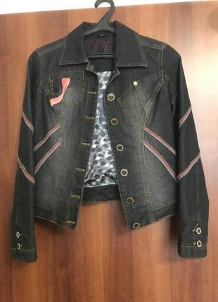 Джинсовый костюм ( куртка и бриджи)