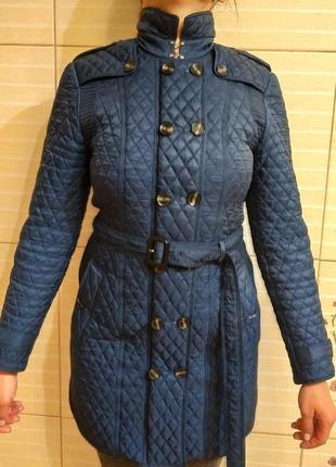 Пальто темно-синее burberry