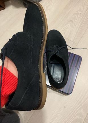Чоловічі туфлі pull&bear з натурального замшу3 фото