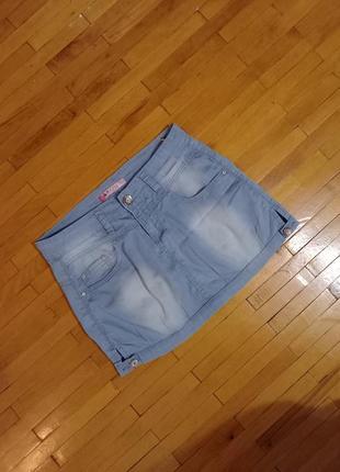 Спідниця kosi jeans джинсова голуба міні юбка