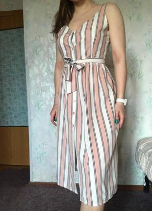 Літнє плаття в полосочку, розмір s-m