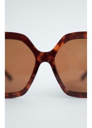 Солнечные очки в шестиугольной оправе из ацетата zara оригинал6 фото