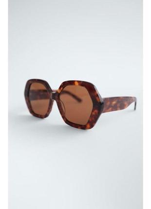 Солнечные очки в шестиугольной оправе из ацетата zara оригинал5 фото