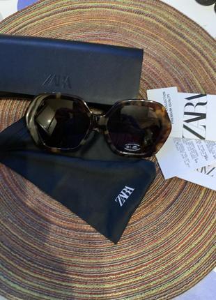 Солнечные очки в шестиугольной оправе из ацетата zara оригинал3 фото