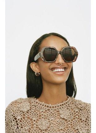 Солнечные очки в шестиугольной оправе из ацетата zara оригинал