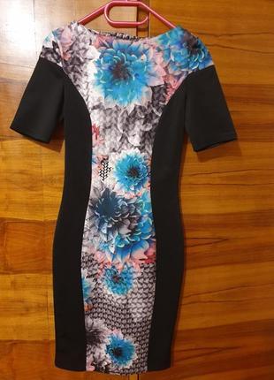 Шикароное стильное платье футляр по фигуре в обяжку