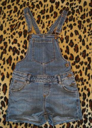 Крутой джинсовый комбинезон с короткими шортиками размер xs