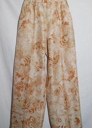 Брюки штаны шелк широкие легкие и воздушные