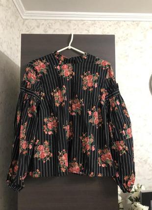 Блузка с объемным рукавом h&m, новая!