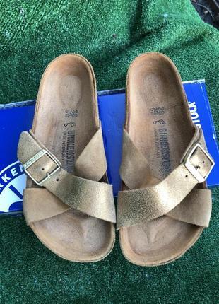 Сланцы сандали шлёпки birkenstock кожа оригинал