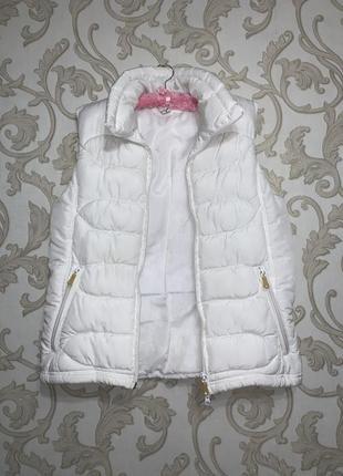 Модная белая жилетка, женский жилет бело молочного цвета