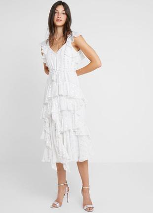 Новое платье сукня needle&thread, оригинал (sandro maje