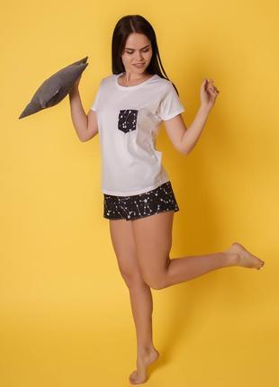 Хлопковая пижамка созвездие, комплект тройка2 фото