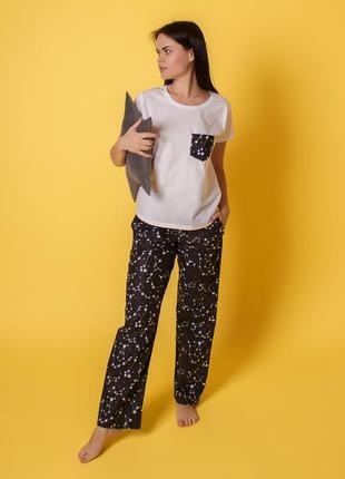 Хлопковая пижамка созвездие, комплект тройка5 фото