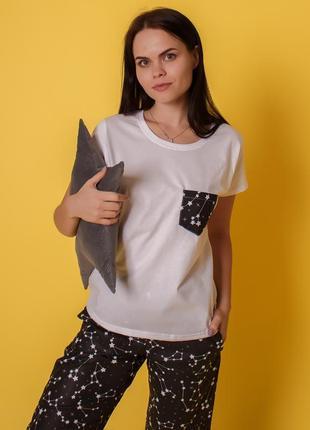 Хлопковая пижамка созвездие, комплект тройка4 фото