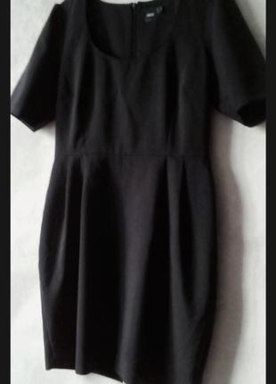 Платье с квадратным  декольте  asos