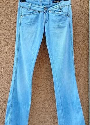 Джинсы killah, голубые джинсы, джинсы клёш, женские джинсы