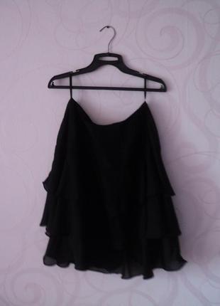 Легкая юбка с оборками, короткая юбка, юбка-мини, юбка в офис, юбка-трапеция, разлетайка