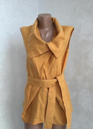 Блузка лён хлопок 💯 оригинал италия 🇮🇹 max mara