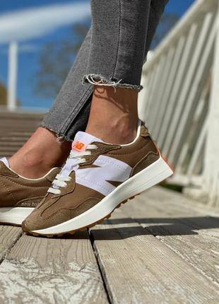 New balance 327 brown, женские кроссовки