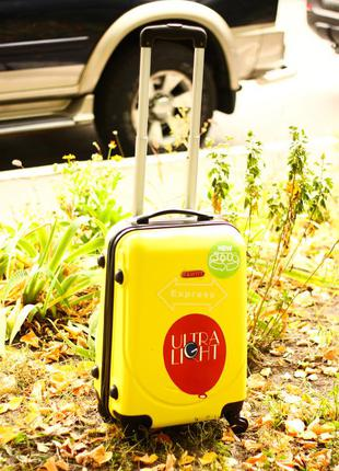 Супер цена! малый пластиковый чемодан ручная кладь валіза маленька ручна поклажка