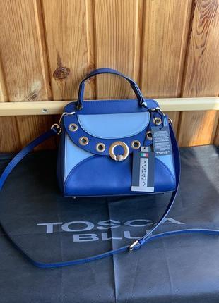 Фирменная сумка брендовая сафьяновая натуральная кожа бренд кожаная оригинал tosca blu распродажа