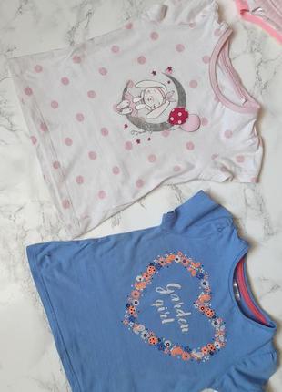 Детская футболка летняя для девочки, футболка с рисунком, с вышивкой