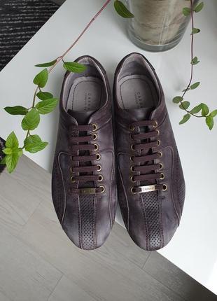 Туфли carnaby кожаные ручная работа италия 40р