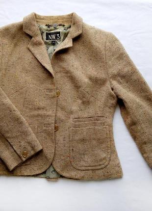 Пиджак жакет короткий приталенный коричневый винтаж в духе стимпанк