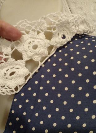 Платье-халат винтаж горох горошек5 фото