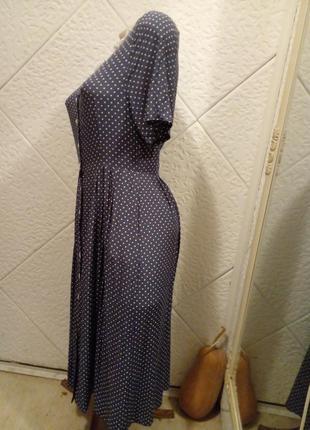 Платье-халат винтаж горох горошек2 фото