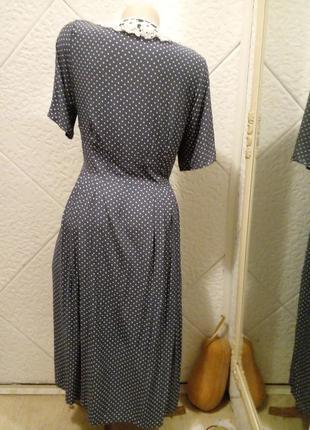 Платье-халат винтаж горох горошек3 фото