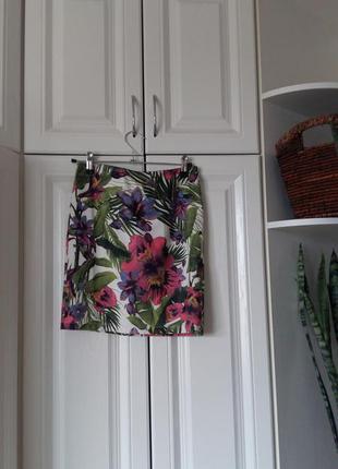 Тропическая юбка stradivarius