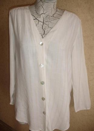 Шикарная фирменная m&s натуральная блузка на 46-48 размер в новом состоянии