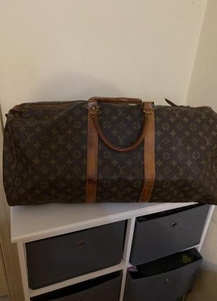 Дорожная винтажная, большая сумка ,франция