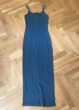 Сукня міді в рубчик