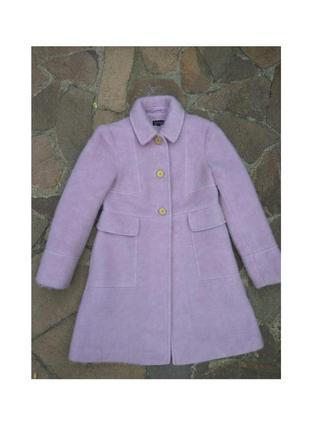 Качественное шерсть с мохером пальто