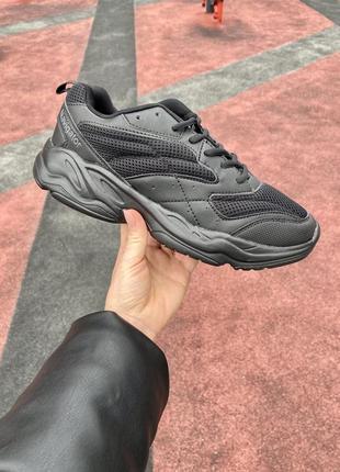 Черные стильные кроссовки со склада со сниженной ценой премиум качества