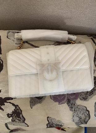 Сумка pinko love bag medium оригінал ss2021 біла