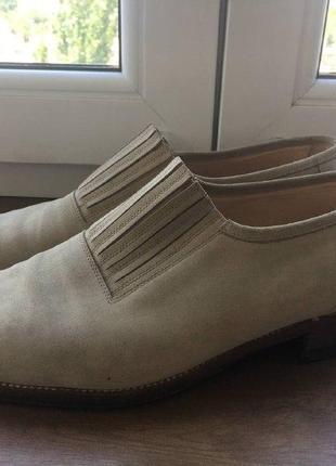 Мужские  классические туфли manolo blahnik из нубука