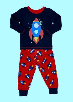 Мягусенькая флисовая пижамка dunnes stores мальчикам на  2-3года