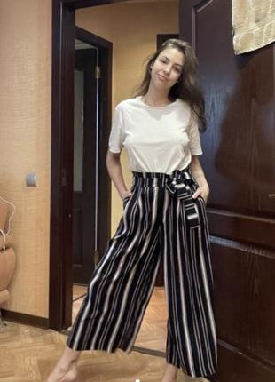 Кюлоты широкие штаны брюки женские