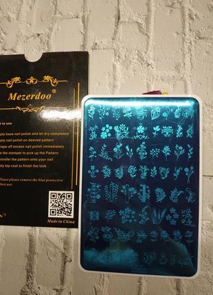Качественная пластина для стемпинга mezerdo для ногтей маникюра дизайна