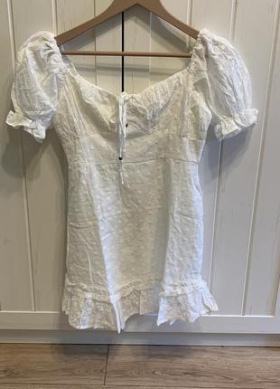 Женское платье с оборками и цветочной вышивкой, короткое платье-корсет с коротким рукавом и буффами, модная женская одежда, новинка лета 2021