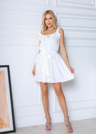 Сарафан платье белое