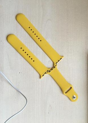 Продам ремешок apple sport band for apple watch 38mm/40mm желтый