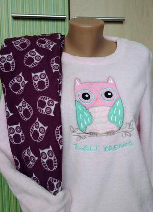 Отличная стильная мягусенькая домашняя пижама совушки рр. м-л