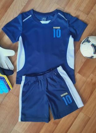 Футбольная форма, футболка, шорты швеция sverige 4-6лет