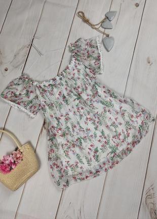 Блуза шелковая шикарная итальянская в принт uk 12-14
