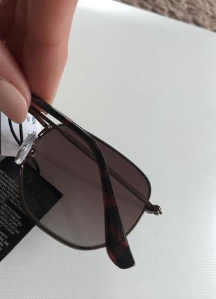 H&m новые солнцезащитные очки коричневые металлические в стиле ray ban5 фото